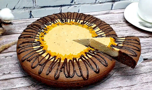 Шоколадный пирог «Вулкан»