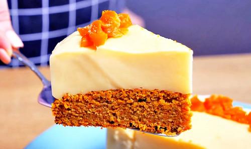 Морковный торт с заварным кремом