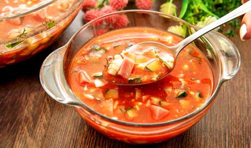 Холодный суп с томатным соком