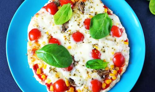 Белковая пицца из куриного филе