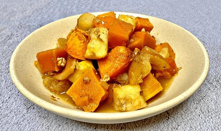 Тыква, запеченная с яблоками в духовке