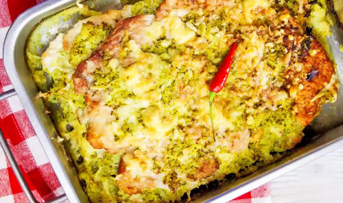 Пирог из индейки и брокколи