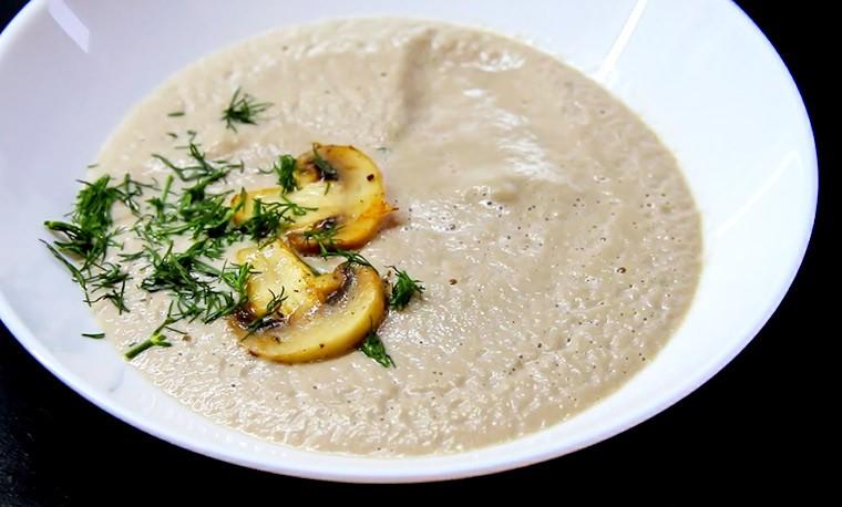 Диетический крем-суп из шампиньонов