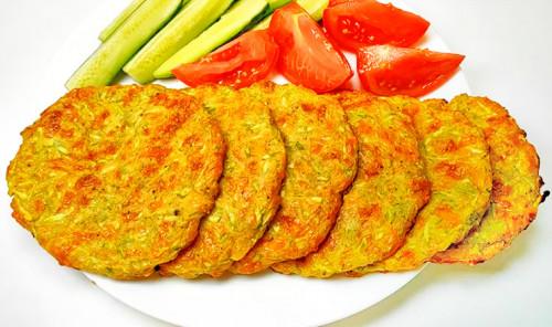 Лепёшки из кабачков с сыром в духовке