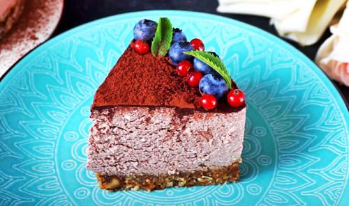 Шоколадный чизкейк из творога без выпечки