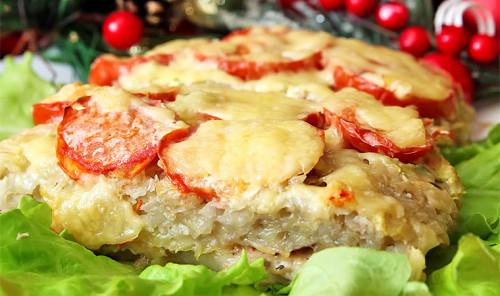 Мясо под картофельной шубой в духовке