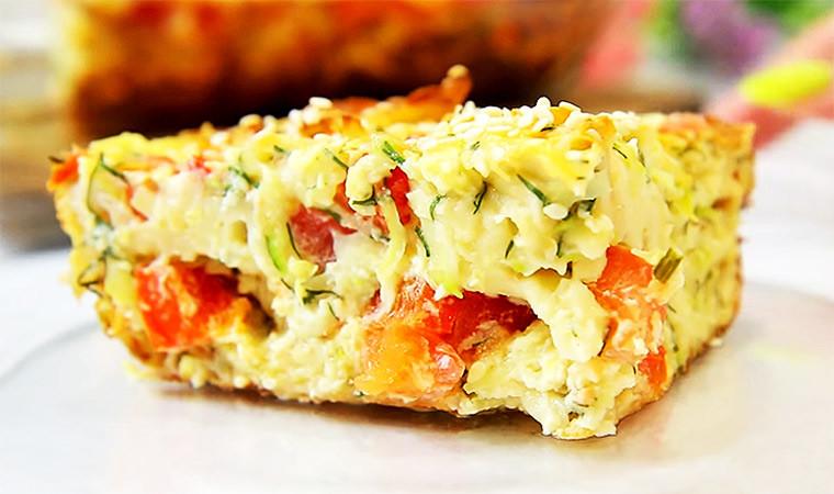 Овощной пирог из лаваша