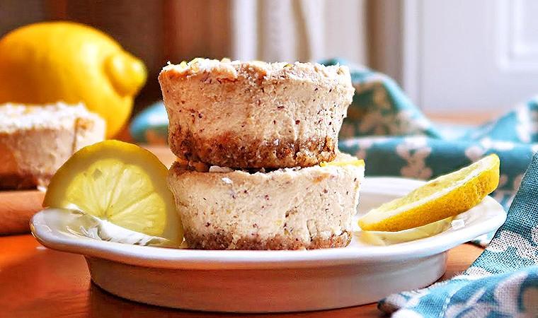 Лимонно-ореховые кексы без выпечки