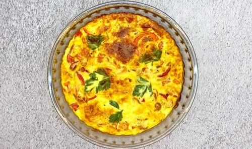 Фриттата с сыром и овощами