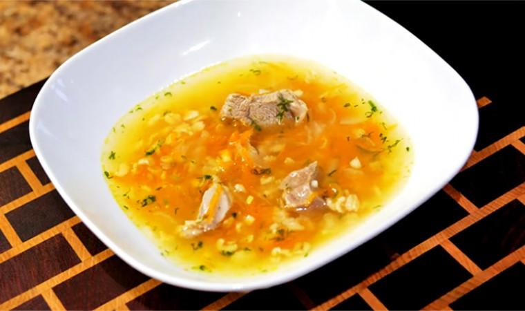 Суп с курицей и овсянкой