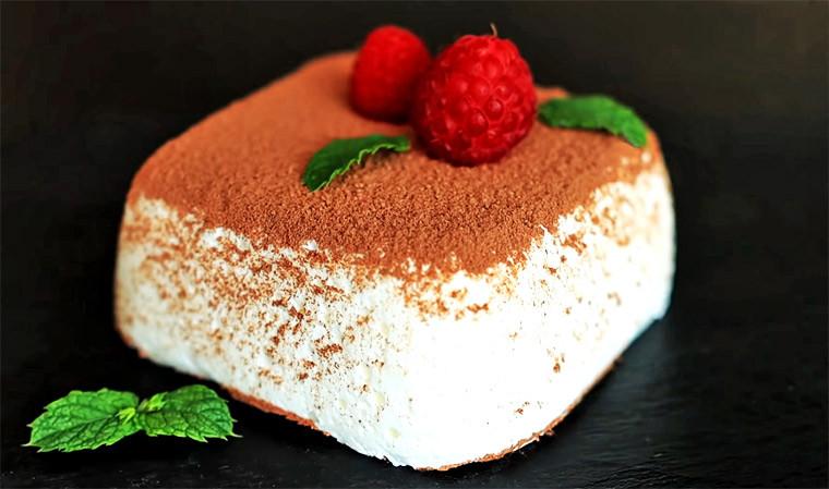 Творожный десерт с молоком и желатином