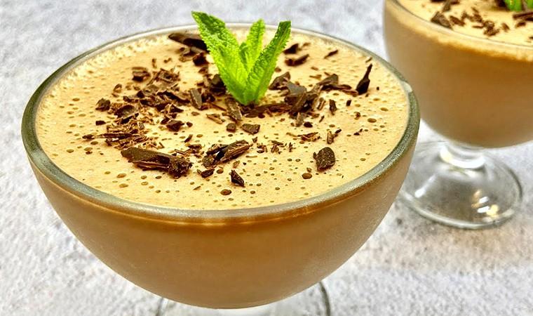 Шоколадно-банановое желе
