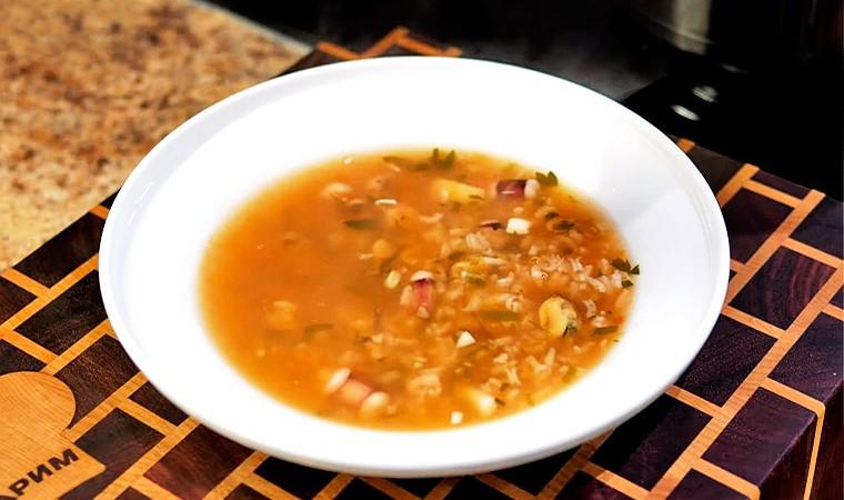Суп из морепродуктов «Морской коктейль»