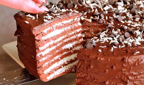 Шоколадно-кокосовый торт «Баунти»