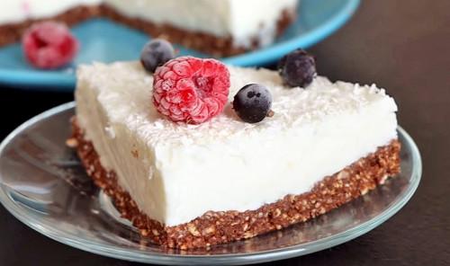 Торт из рисовых хлебцев с творожным кремом