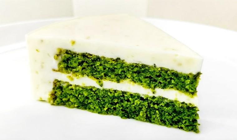 Торт со шпинатом, лаймом и мятой «Мохито»