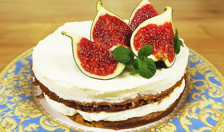 Тыквенный торт со сметанным кремом