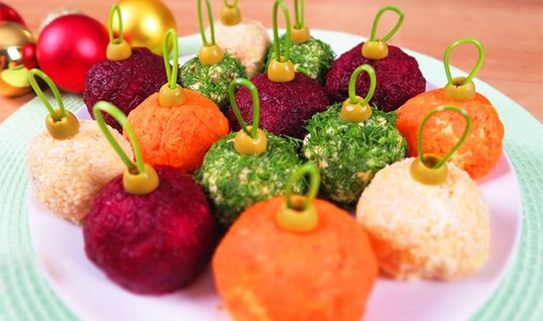 Новогодний салат «Елочные шары»
