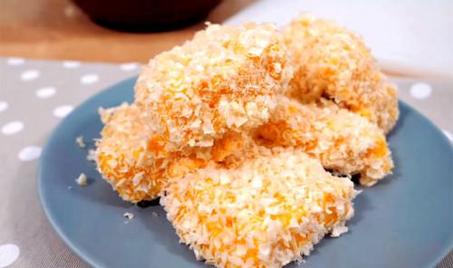 Десерт из манки и мандаринов