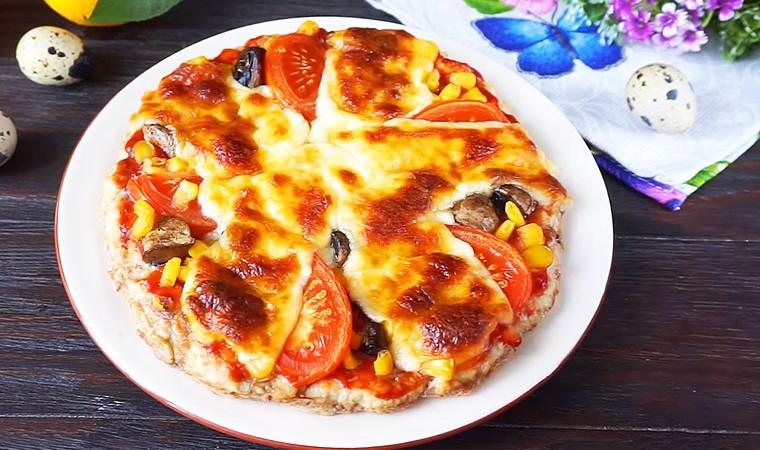 Белковая пицца на куриной основе