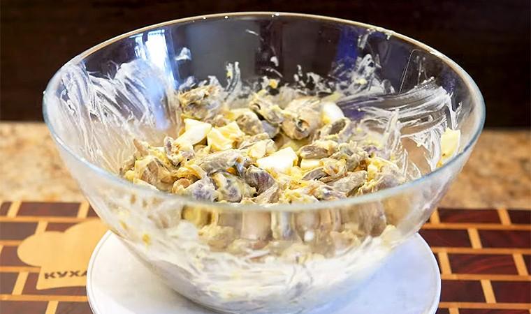 Белковый салат для худеющих