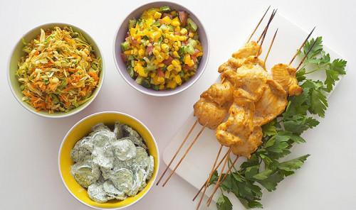 Три рецепта салатов к шашлыку